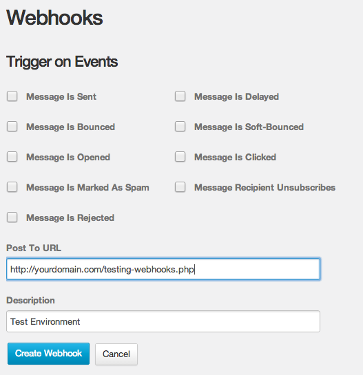 Create new Webhook