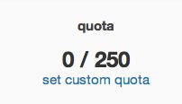 custom quota