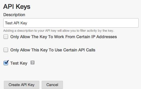Create a test key